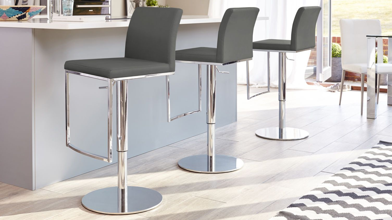 verona chrome gas lift bar stool bar stool verona and stools