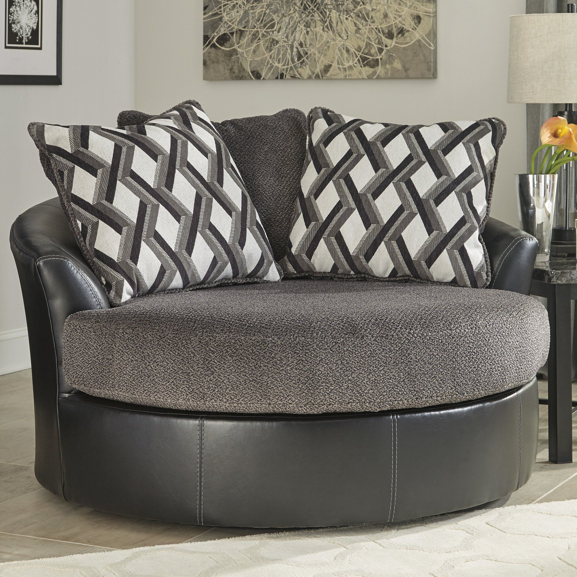 Found it at Wayfair Transient Swivel Barrel Chair