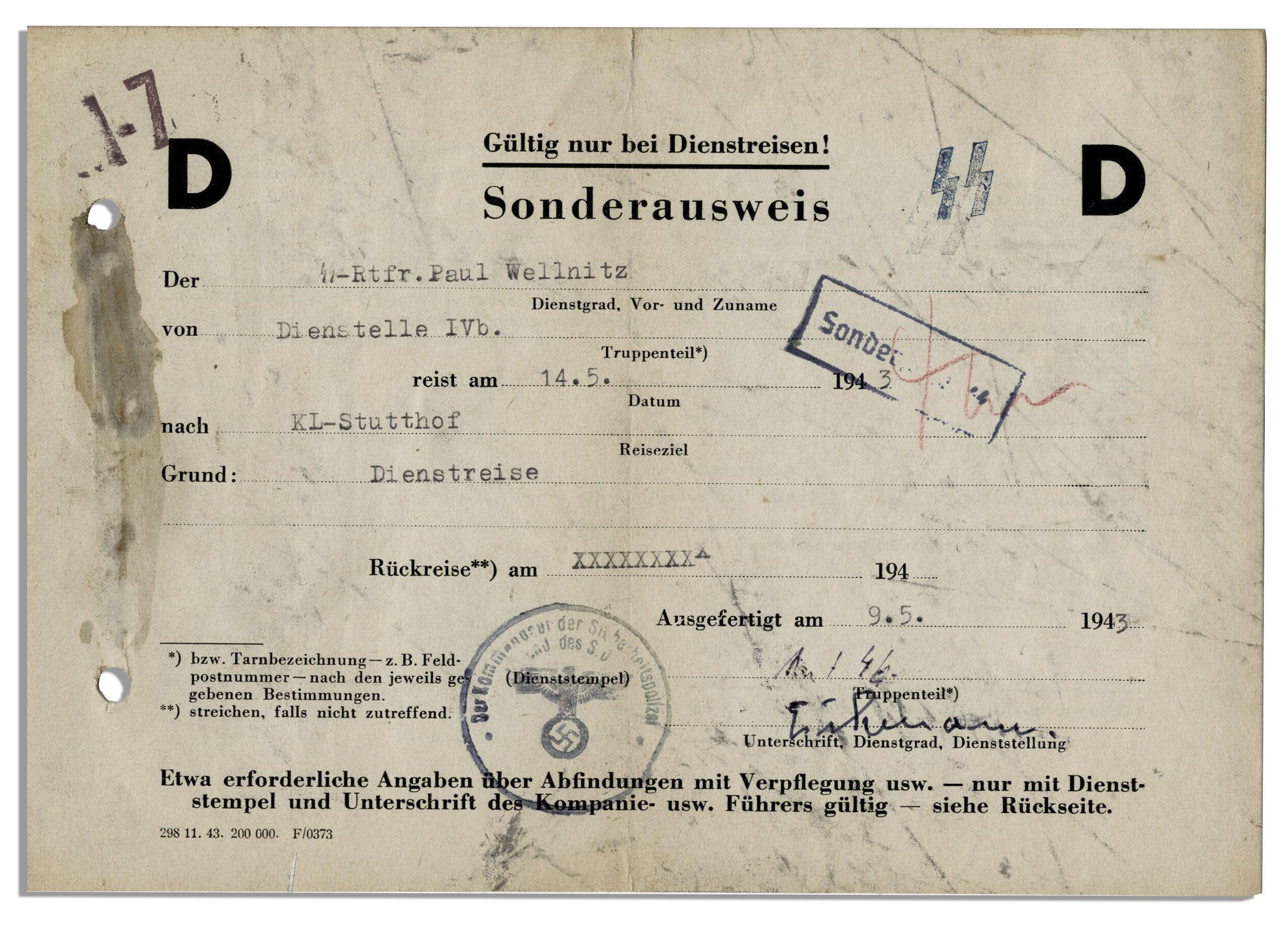 Adolf Eichmann Signed Document