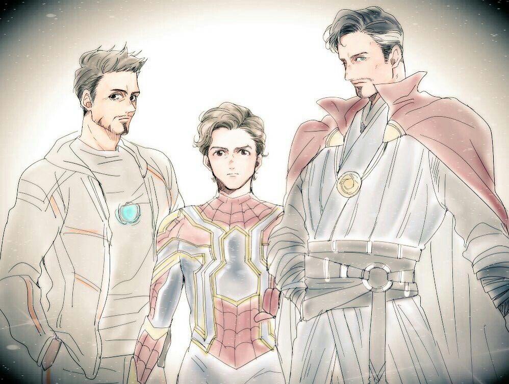 Tony Stark, Peter Parker, and Doctor Strange | Fandom