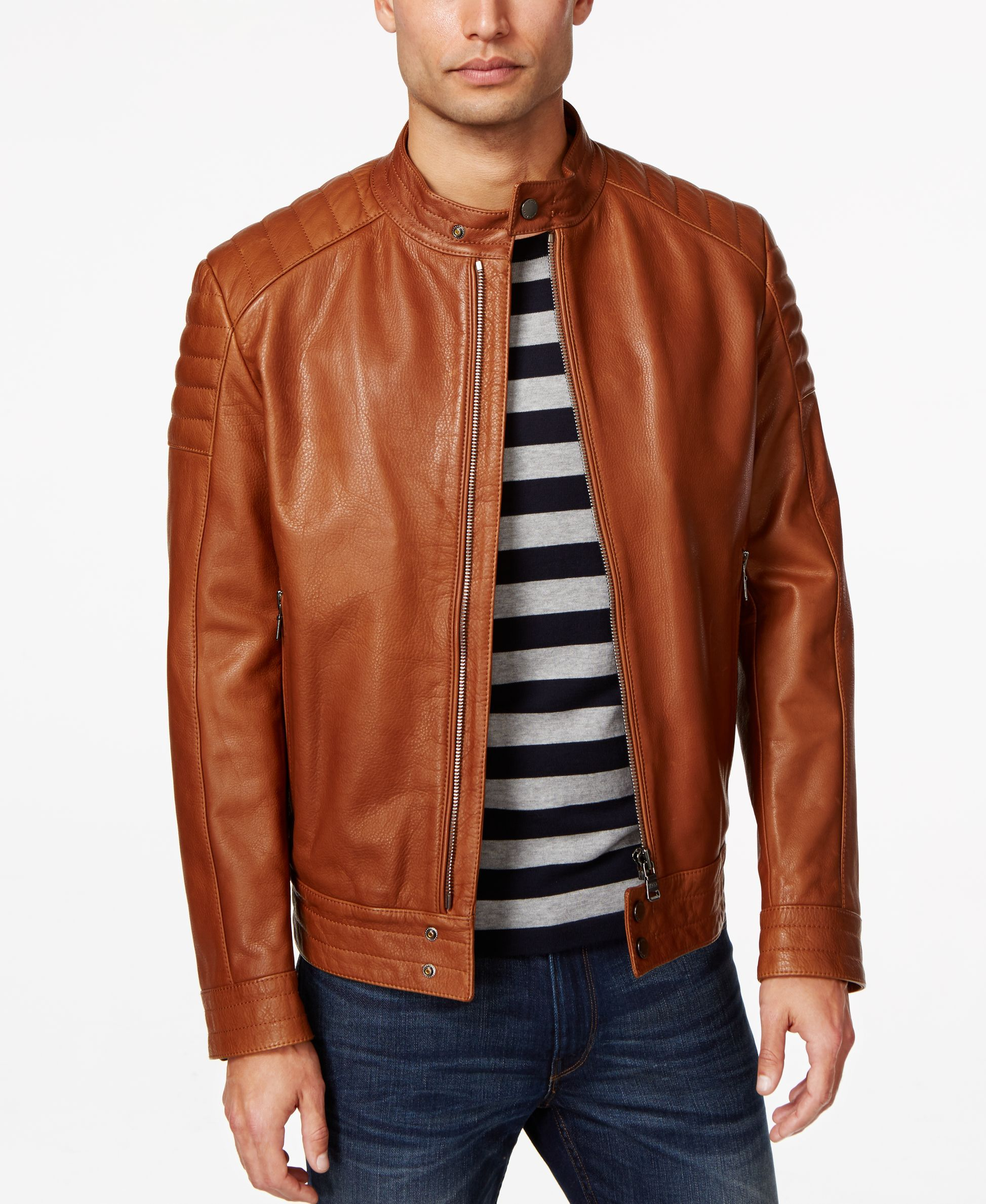 Hugo Boss Black Nupitz Leather Jacket