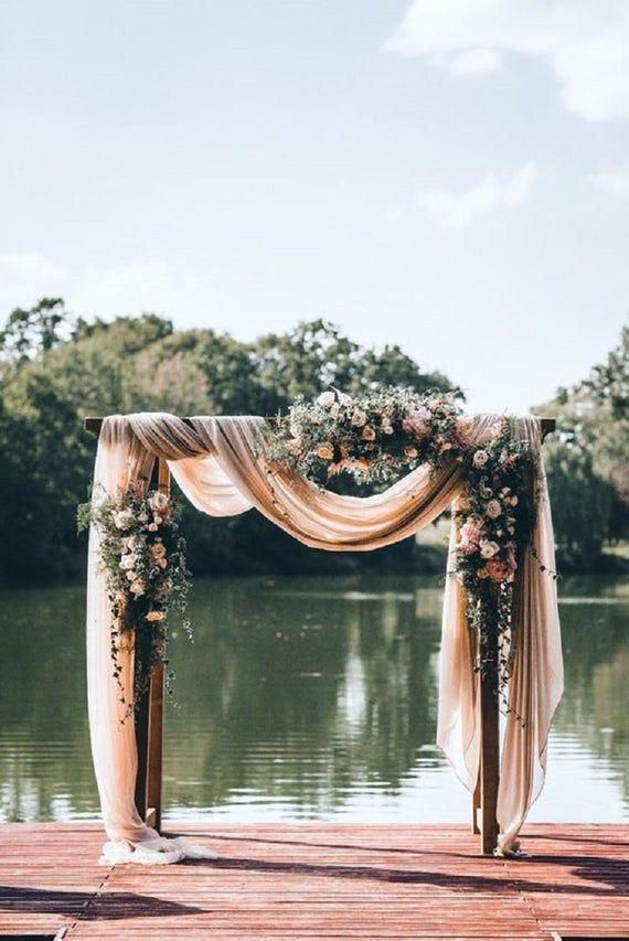 Photo of Peach Bride Table Decoration Boho Centerpiece Gauze Runner Cotton Gauze Fabric Wedding Shower Decor – Site Today