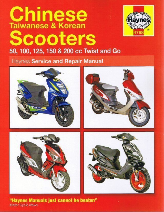 Haynes Chinese Scooter Manual 50cc 100cc 125cc 150cc 200cc | Parts ...