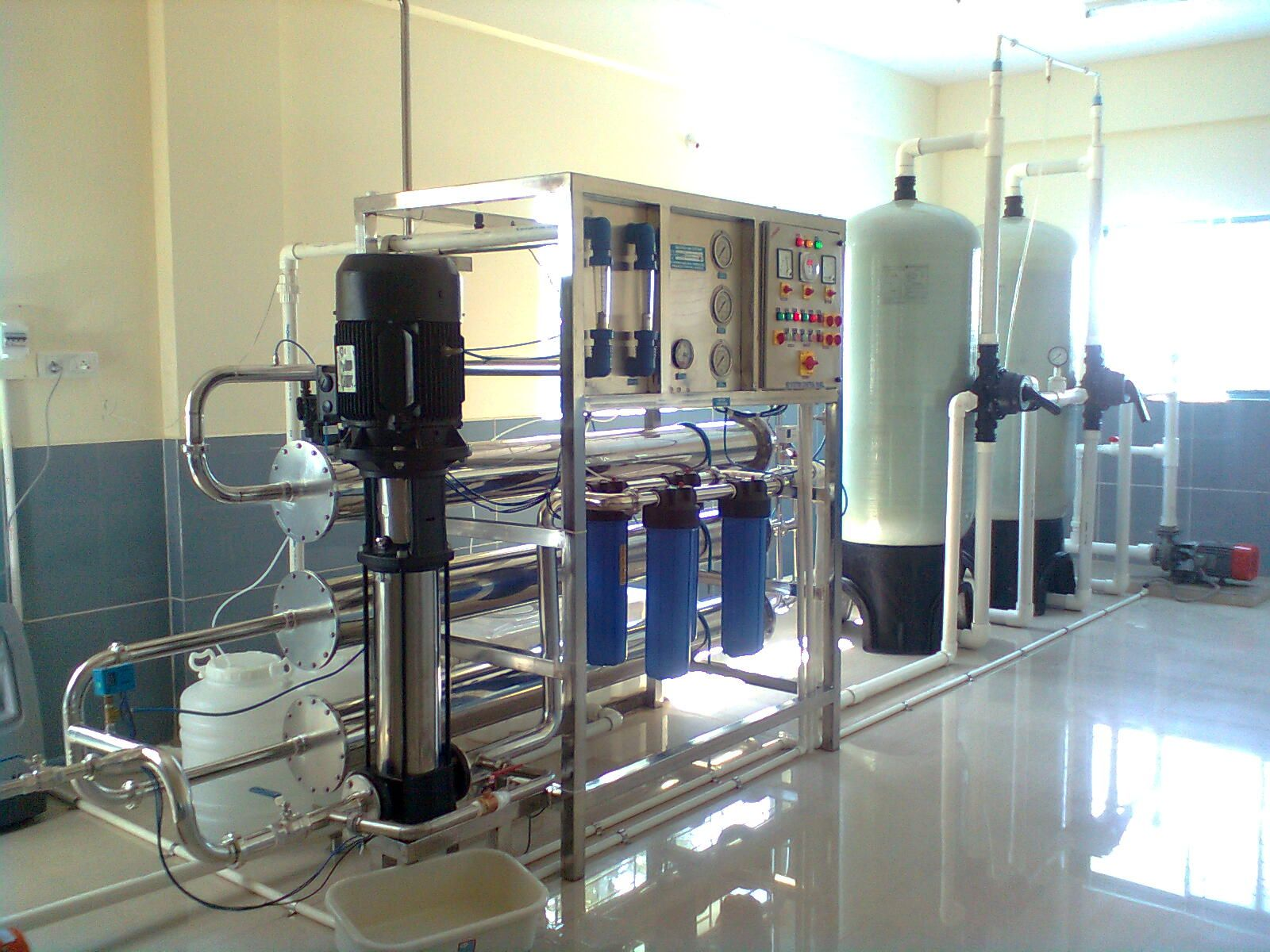 Reverse osmosis a membrane desalination process increasingly used