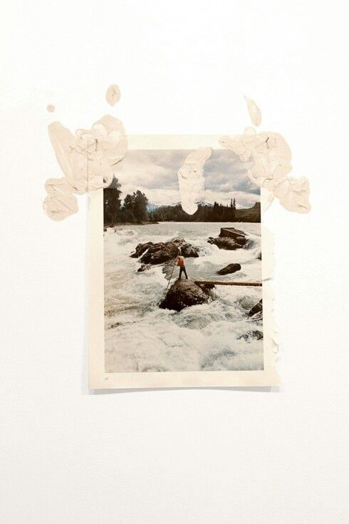 Jack Brindley Welcome, Ghosts (British Columbia, 2013) 2013, 23x31 cm (locally sourced clay, found publication)