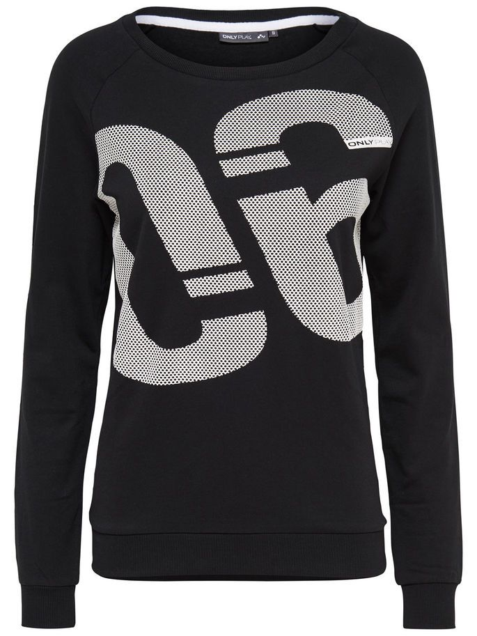 SWEAT SWEATSHIRT, Black, large