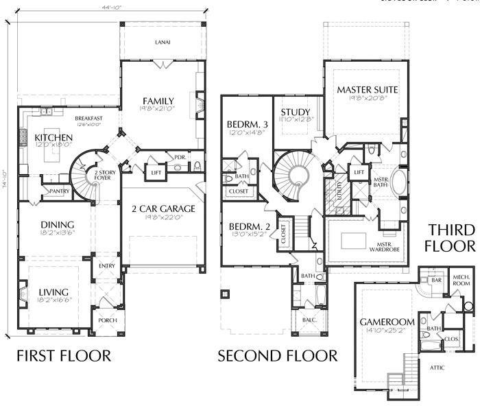 2 Story House Plans, Home Blueprint Online, Unique Housing Floor
