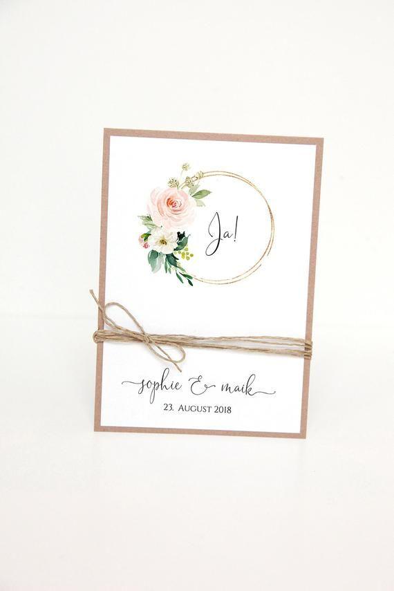 Einladungen zur Hochzeit / Hochzeitspapeterie - S&M-2 #whiteweddingflowers