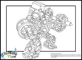 Skylanders Giants Coloring Pages Crucher
