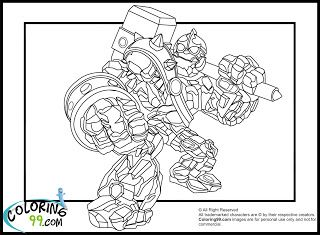Skylanders Giants Coloring Pages Crucher