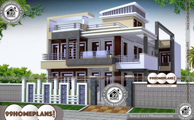 Free Home Plans Indian Style 2 Story 4400 Sqft Home Free House Plans 2 Storey House Design House Design Pictures