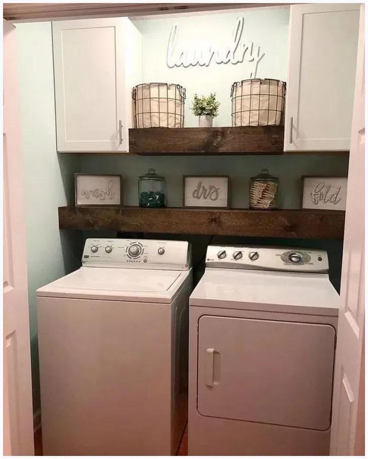 Smart Farmhouse Laundry Room Storage Organization Ideas # ...
