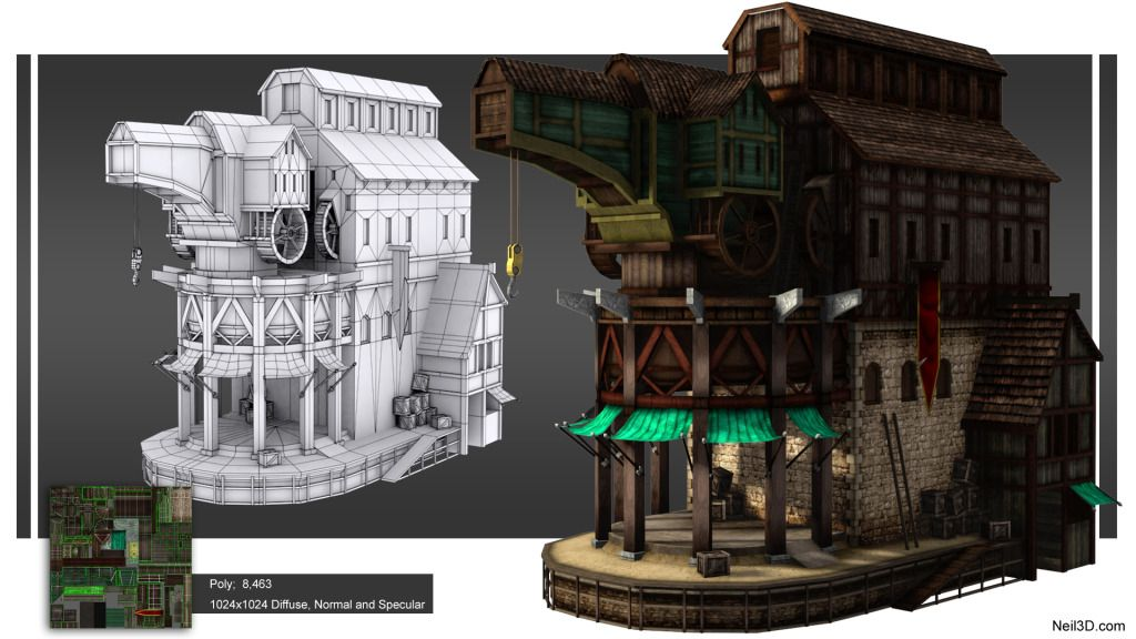 3D Environment modeling for gaming and Film - YouTube