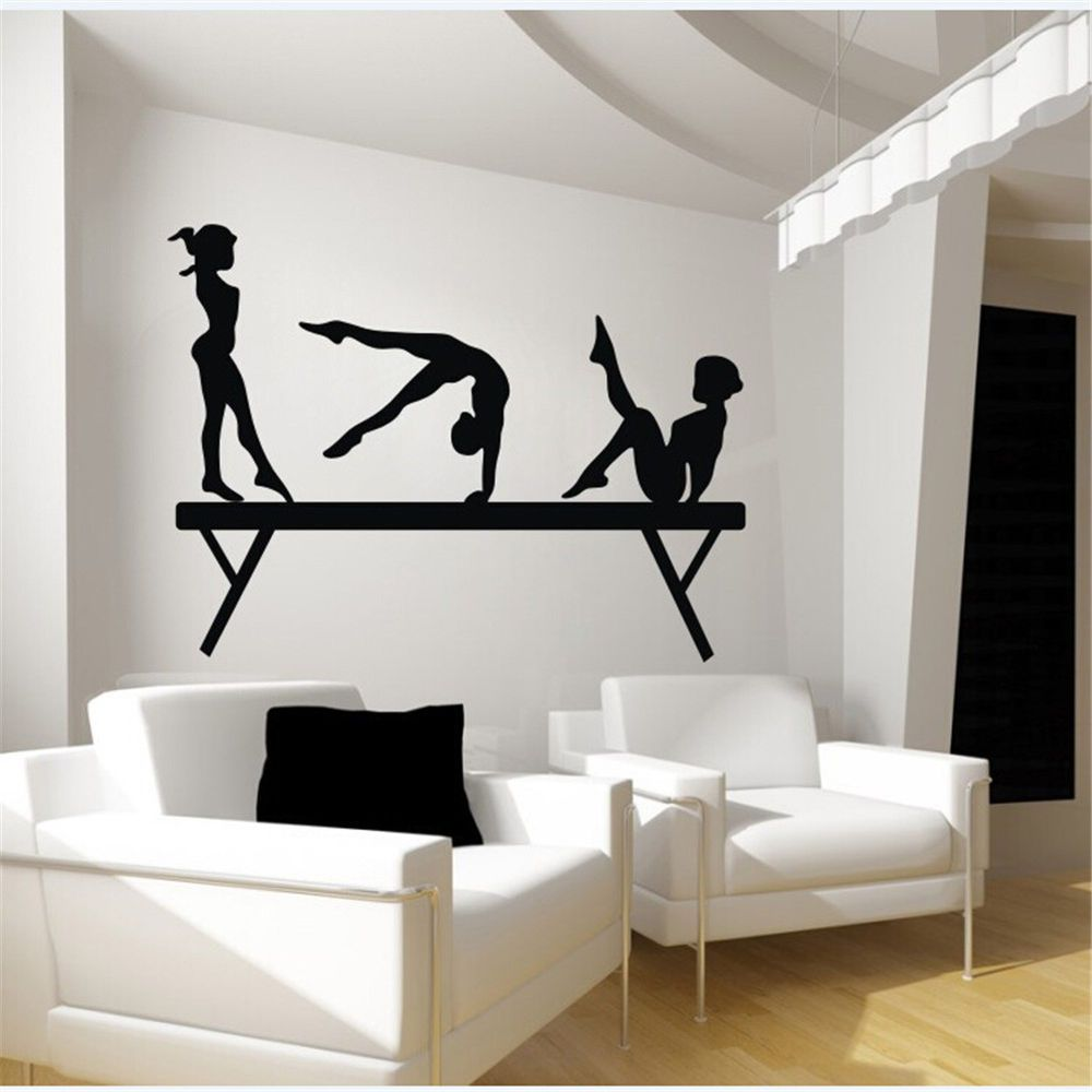 gymnastics balance beam 3 sport girls room wall decal art on wall stickers id=25778