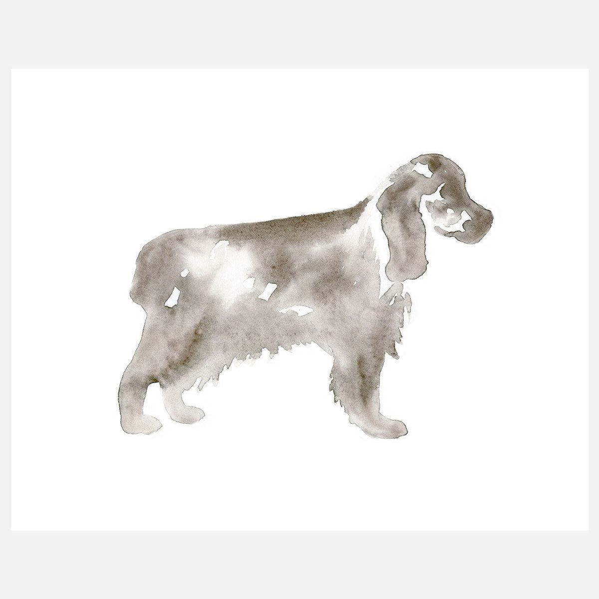 I Liked This Design On Fab Cocker Spaniel Silhouette 10x8 Illustration Animale Cocker Chien