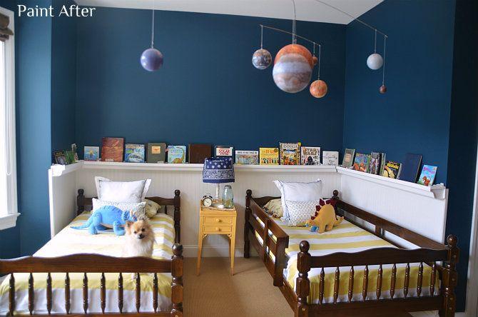Sherwin Williams Rainstorm Boys Room Reveal Giveaway Boys Room Colors Boys Room Paint Colors Boy Room Paint