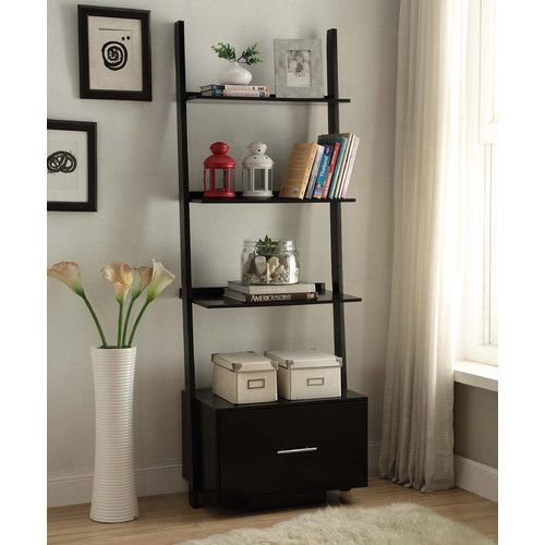 """Found it at AllModern - Meghan 69"""" Leaning Bookcase"""