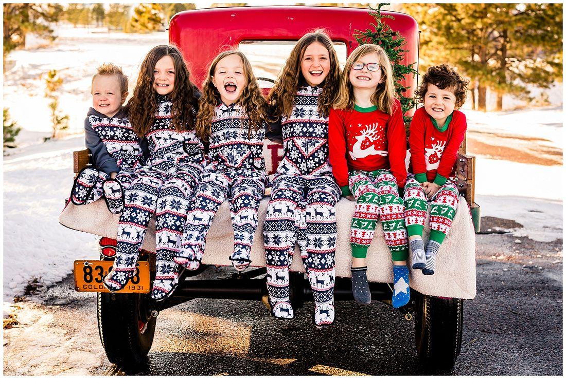 Christmas Truck Photos Elizabeth Colorado Family Photographer Christmas Mini Sessions Christmas Truck Christmas Minis