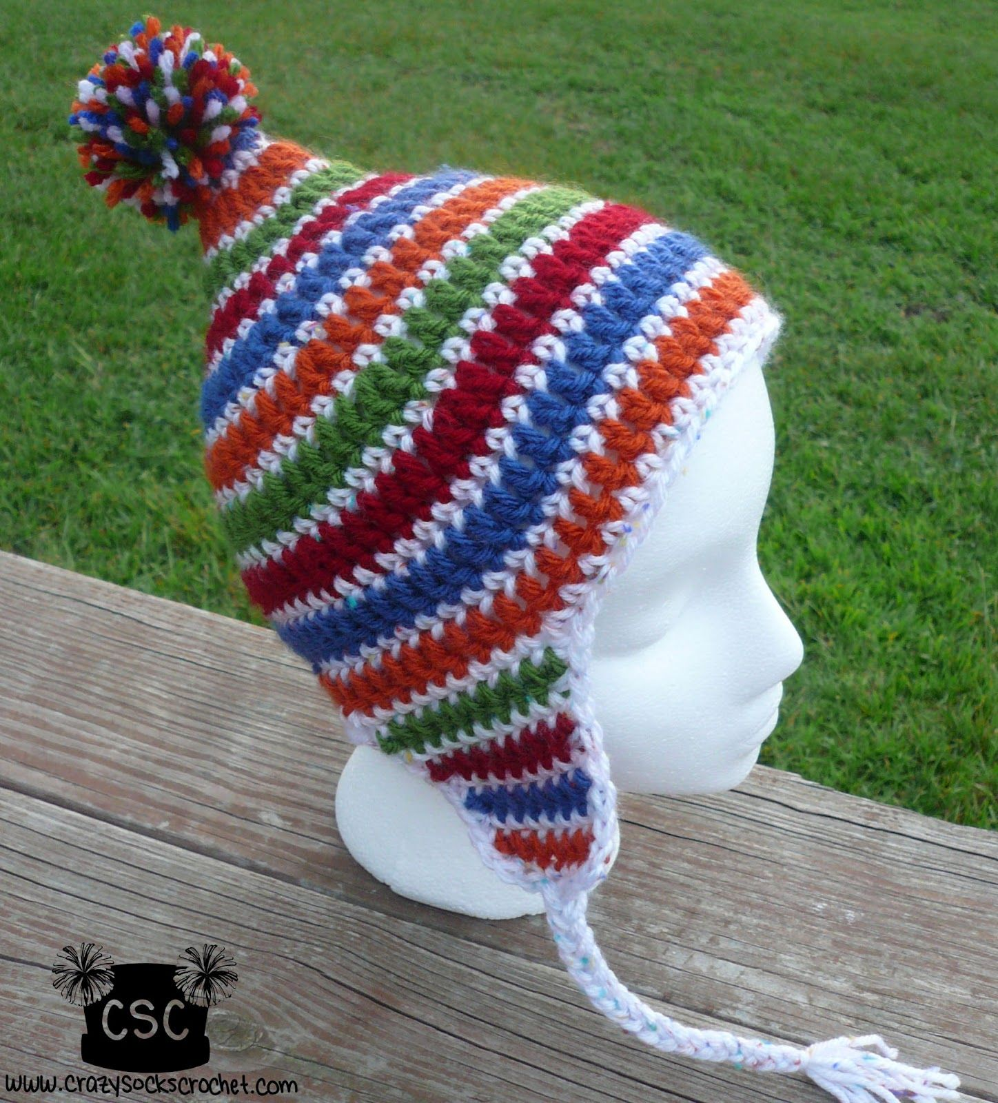 Danyel pink designs crochet pattern circus hat gonnigan hat this circus hat is a fun pointed earflap hat for toddlers i recommend making them in several bright colors with contrasting trim bankloansurffo Gallery