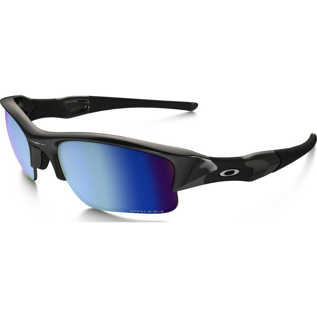 Oakley makes sure you'll conquer with the Sport Flak Jacket XLJ Polished  Black Sunglasses