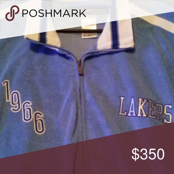 1966 THROWBACK LAKERS JACKET 1966 THROWBACK LAKERS JACKET Reebok Jackets & Coats Performance Jackets