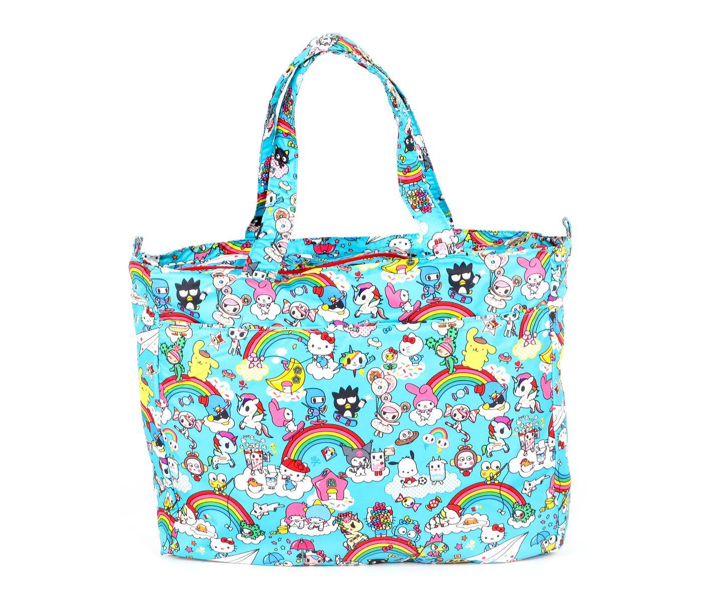 194e1f5c87c4 tokidoki for hello sanrio by Ju-Ju-Be Super Be Tote Bag  Rainbow Dreams