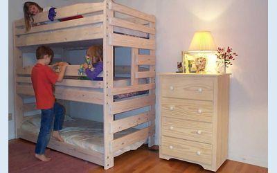 3 Bunk Beds Designs Triple Bunk Bed Plans Even Quadruple Plans