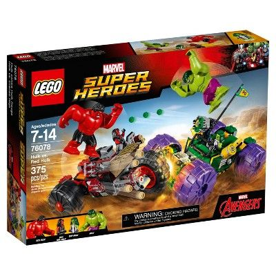 LEGO® Super Heroes Hulk vs. Red Hulk 76078 | Red hulk, Lego super ...