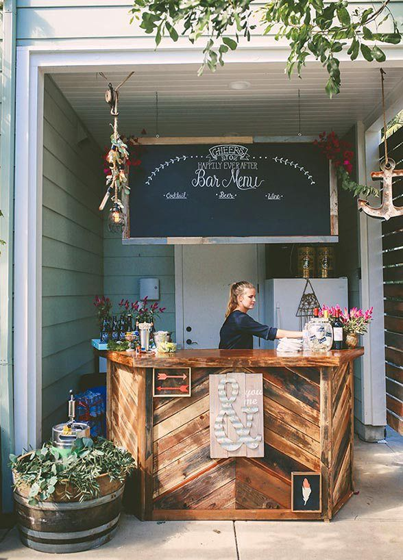 20 Creative Patio Outdoor Bar Ideas You Must Try At Your Backyard Med Billeder Drommebryllup Dekoration Fest