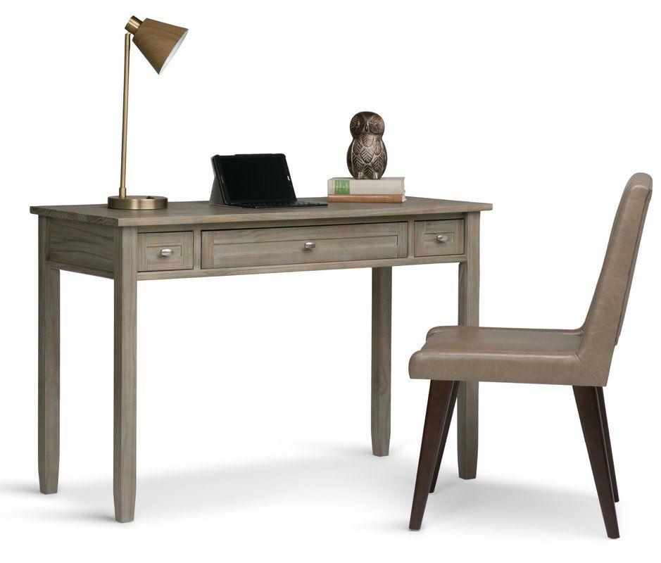 Alameda Solid Wood Desk Solid Wood Writing Desk Wood Writing