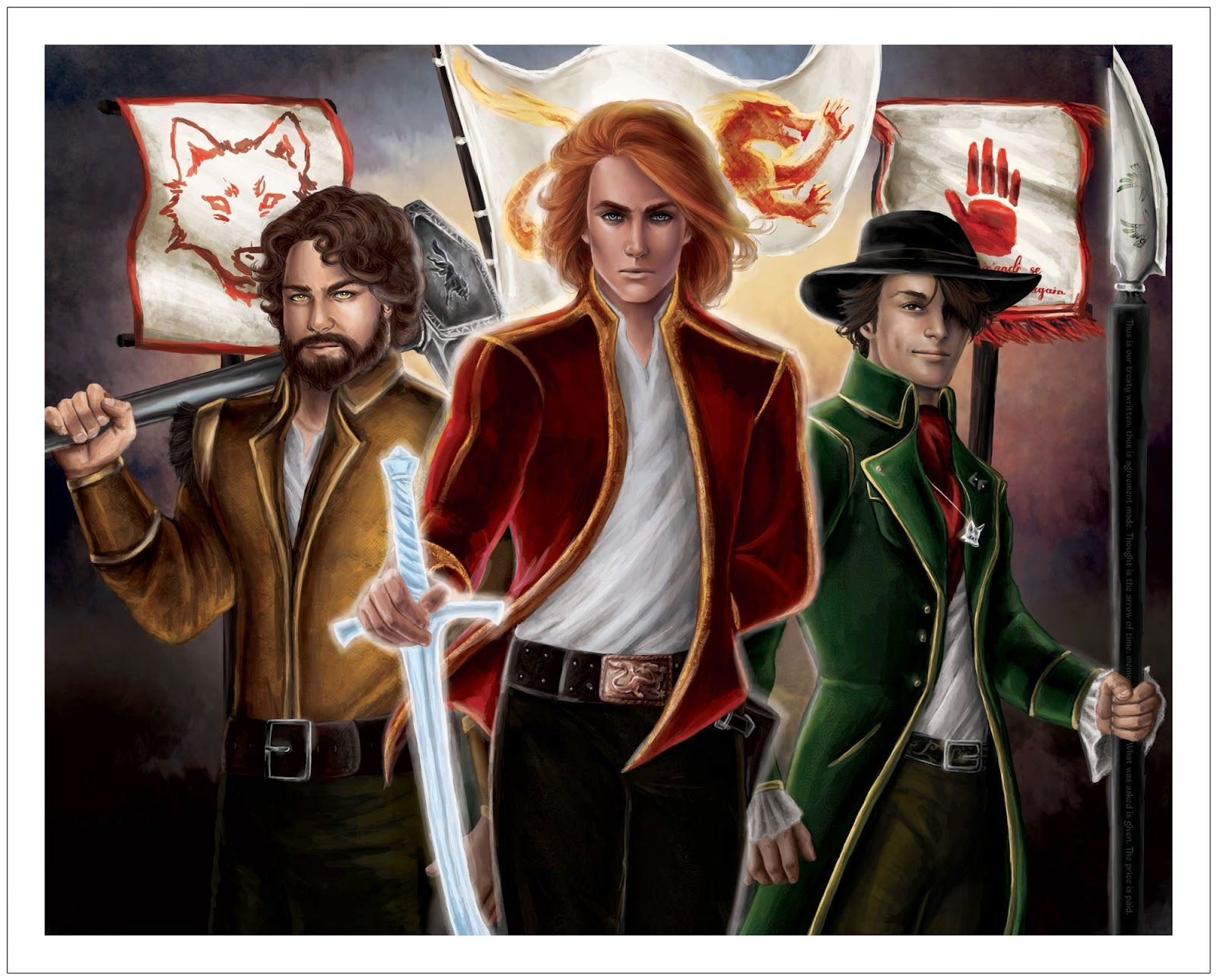 Taveren wheel of time just like the harry potter trio