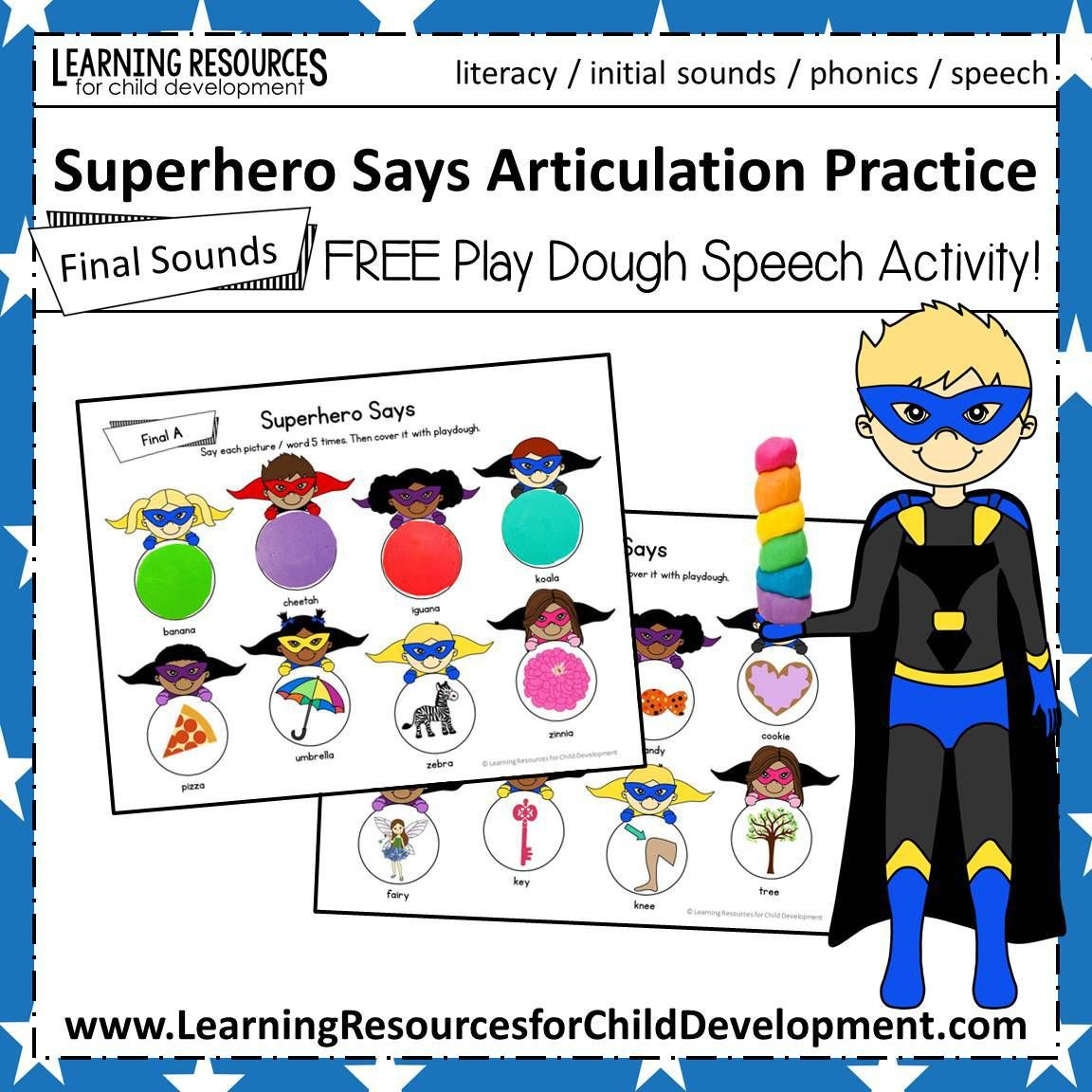 Superhero Says Articulation Practice
