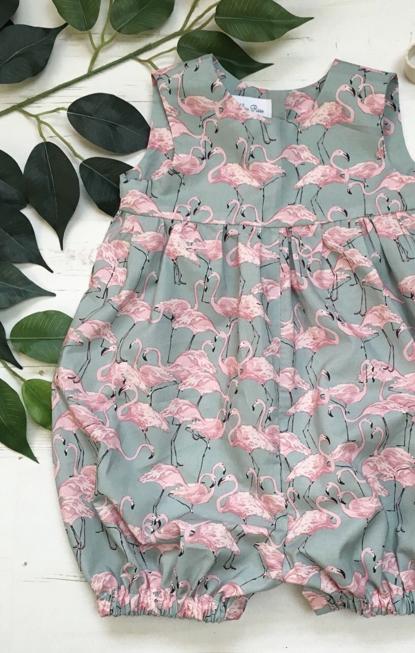 Handmade Flamingo Print Romper   AshleyRoseMade on Etsy   Nähen ...