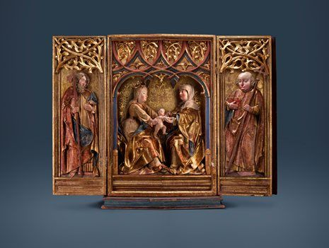 #Triptych Virgin Mary, Child Jesus and St. Anne - #Senger #Bamberg Kunsthandel - Masterpiece London - #Stand #A21 - be enthralled - visit Masterpiece London - #June #30th - #July #6th 2016