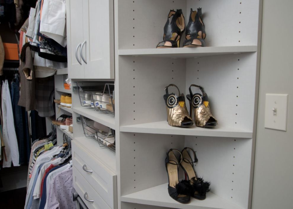 A Blank Wall Gets An Organizational Upgrade California Closets Custom Displays Closet