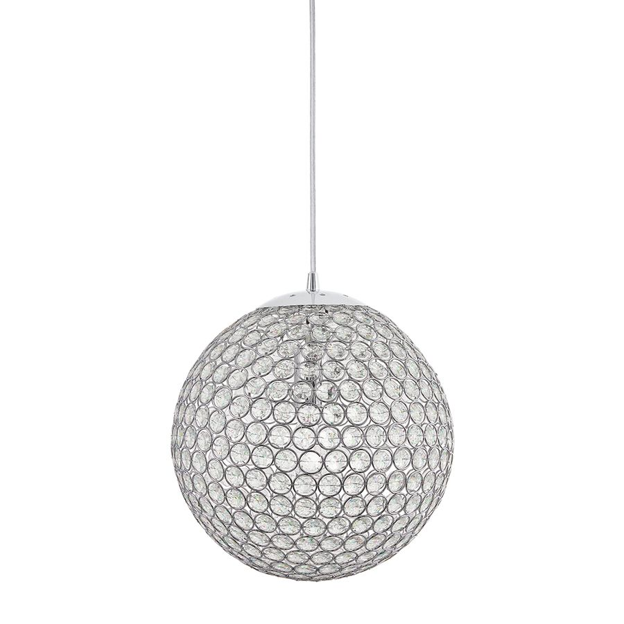Shop Kichler Lighting Krystal Ice 11.81 In W Chrome Crystal Pendant Light  With Crystal Shade