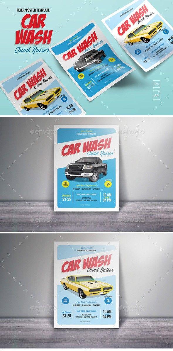 Car Wash Fund Raiser Flyer Pinterest Car Wash Flyer Template