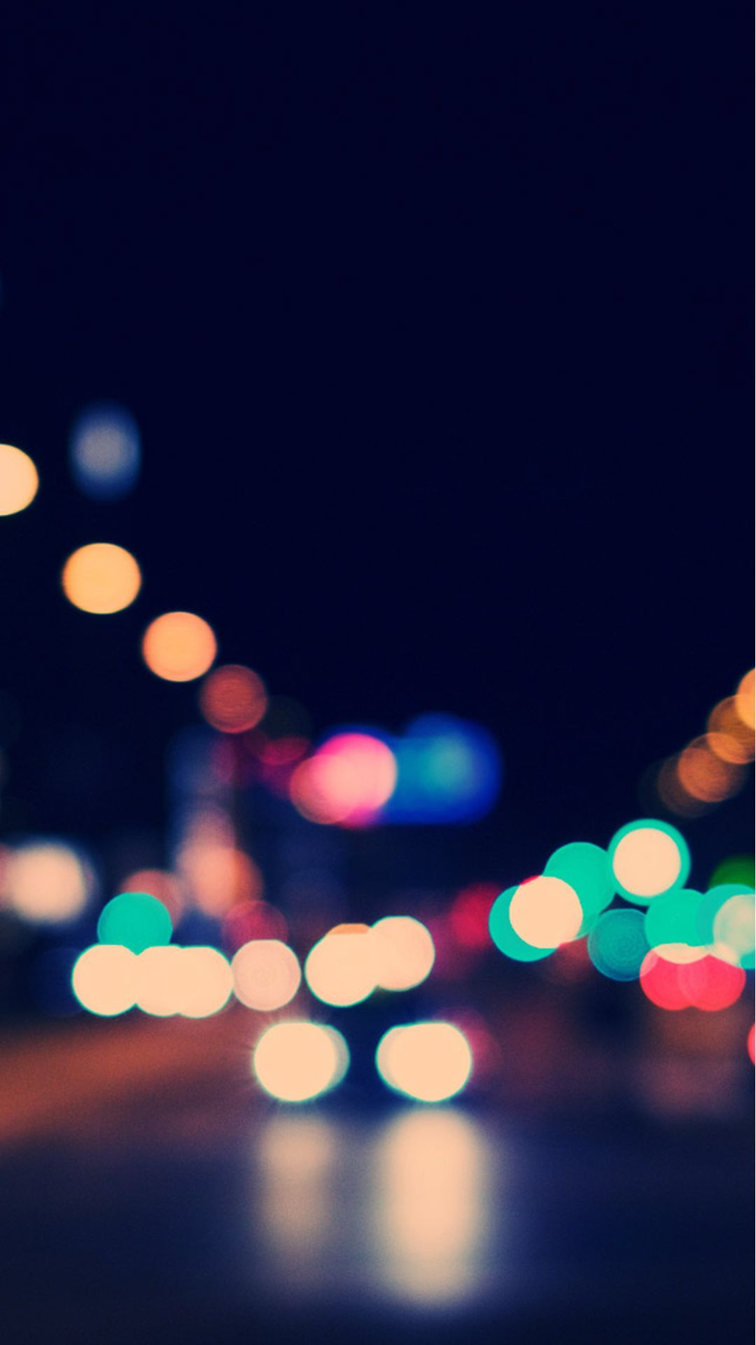 Bokeh City Street Lights #iPhone #7 #wallpaper