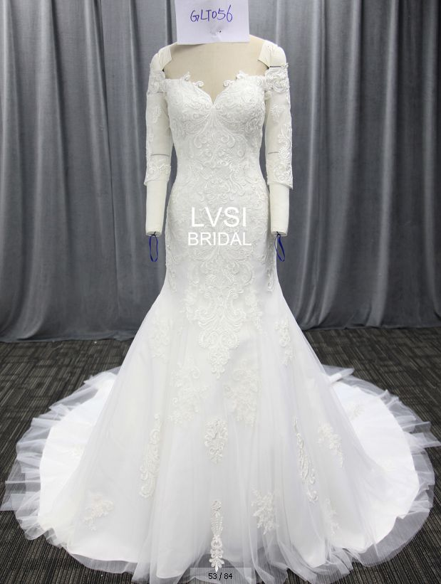 GLT056 2018 Beaded Lace Mermaid Customized Wedding Dresses Off The ...