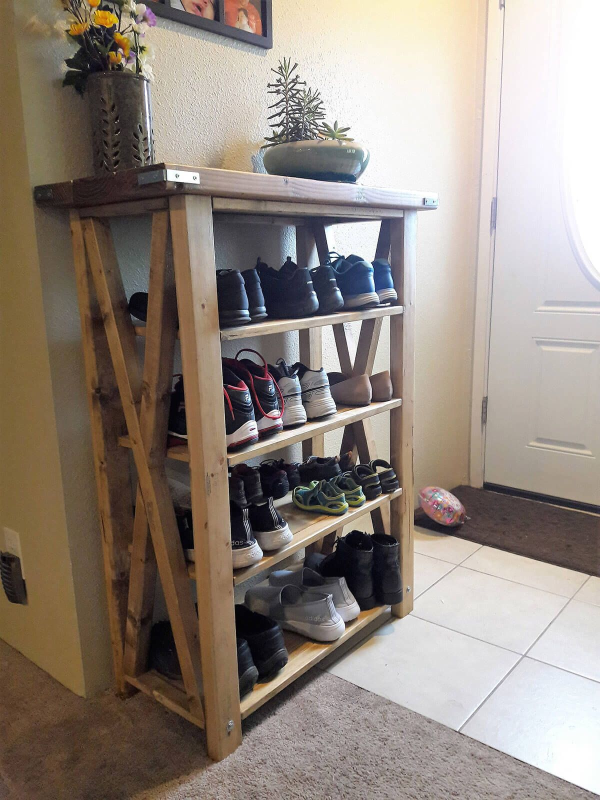 19 Clever Entryway Shoe Storage Ideas To Stop The Clutter Wood Shoe Rack Entryway Shoe Storage Crate Furniture