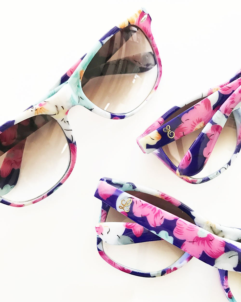 Monogram Floral Sunglasses | Products | Pinterest | Monograms ...