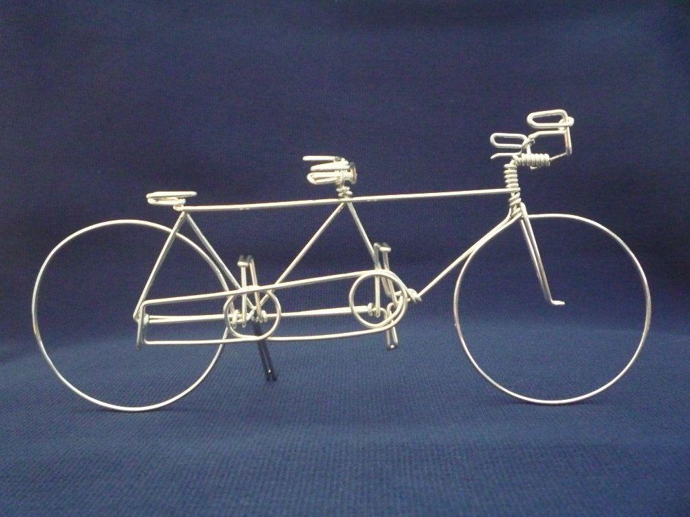 Tandem 1 Bike Ornament Wedding Cake Topper By Heatherboyd On Etsy