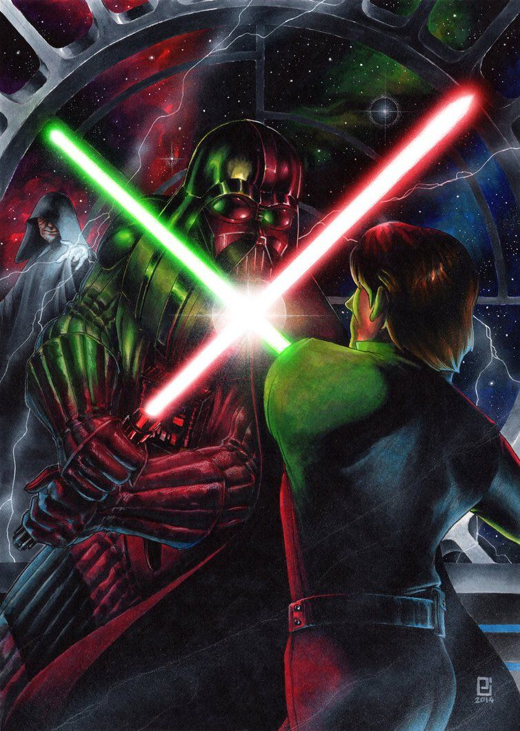 Star Wars Wallpaper Darth Vader Vs Luke