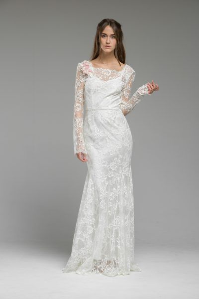 French lace vintage inspired, bohemian wedding dress by Katya ...