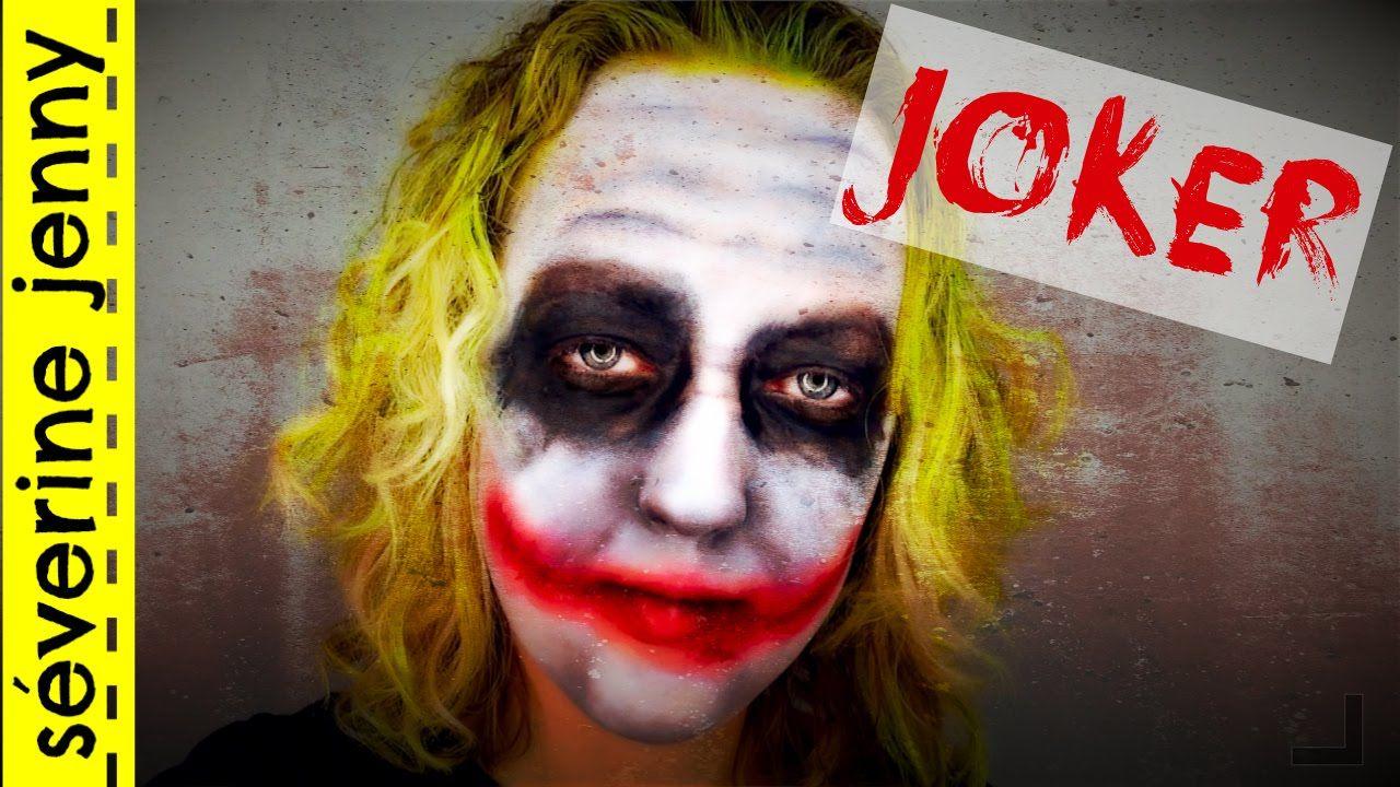 Maquillage Halloween Qui Fait Peur Joker Make Up Face