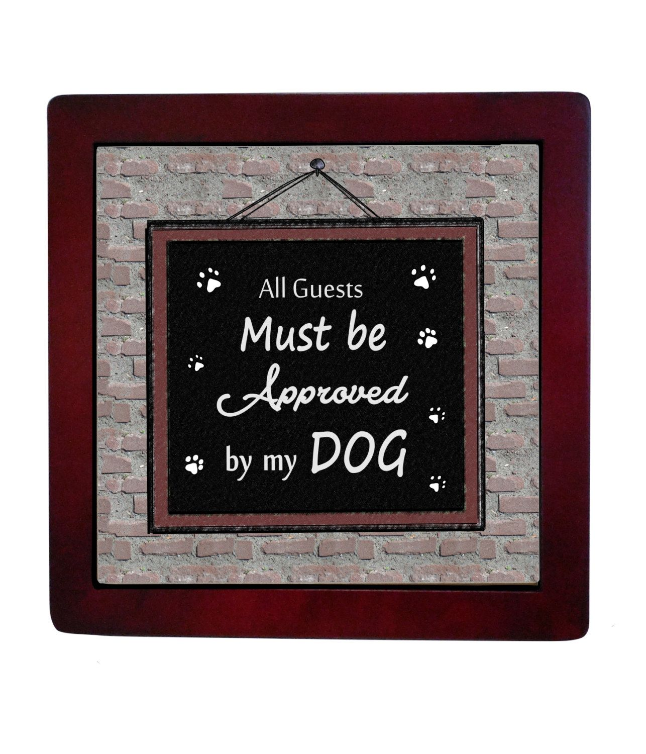 Pet funny quotes, dog quote ceramic tile, Dog Plaques, pet lovers ...