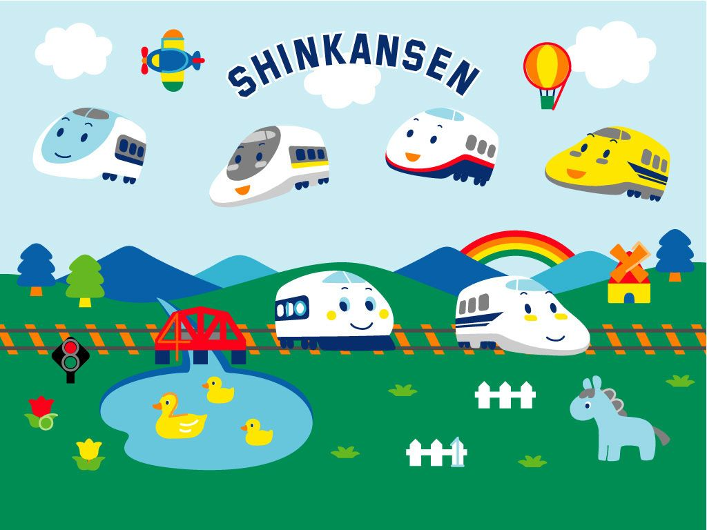 Cartoon Shinkansen Wallpaper