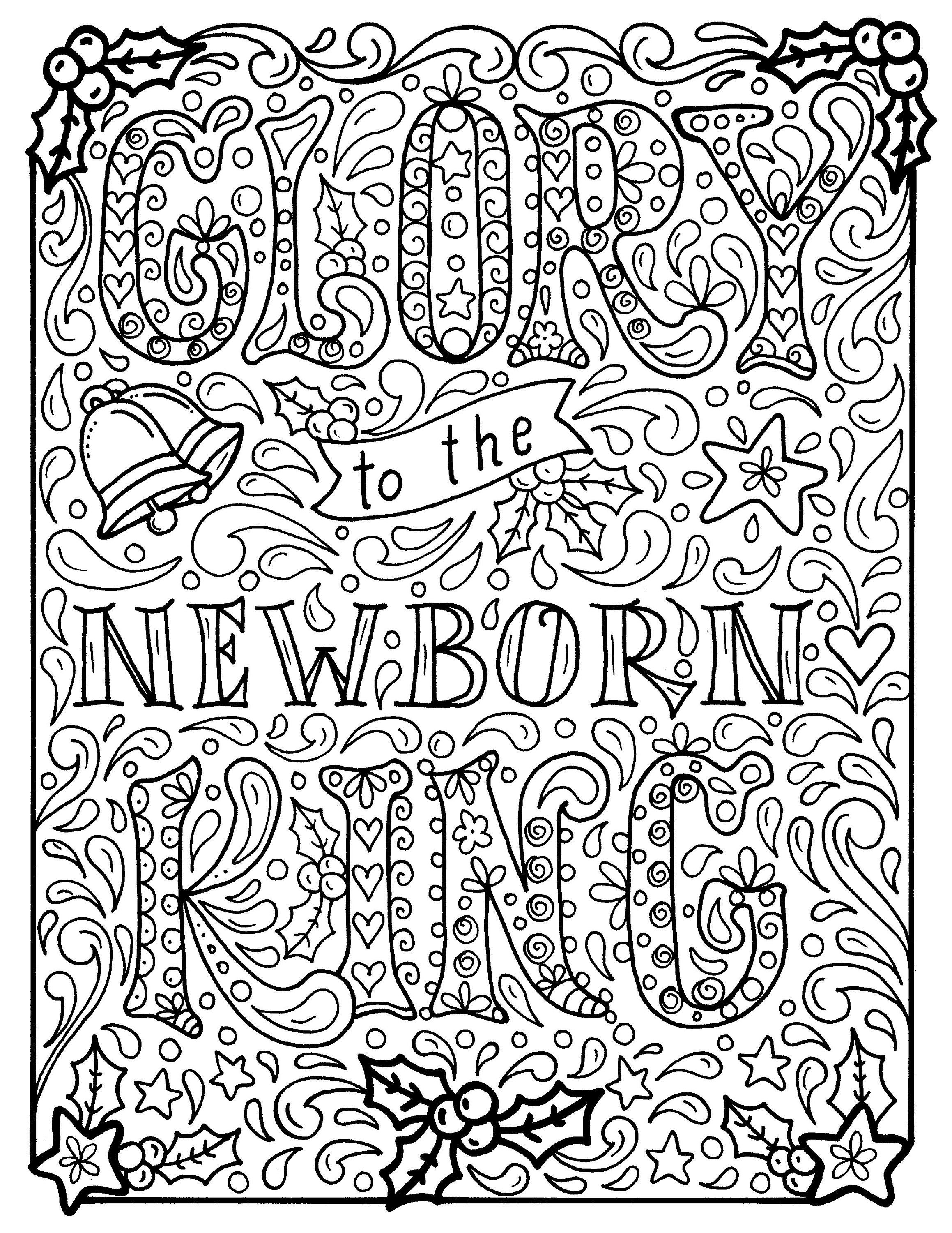 Christian Christmas Coloring Page Church Scripture