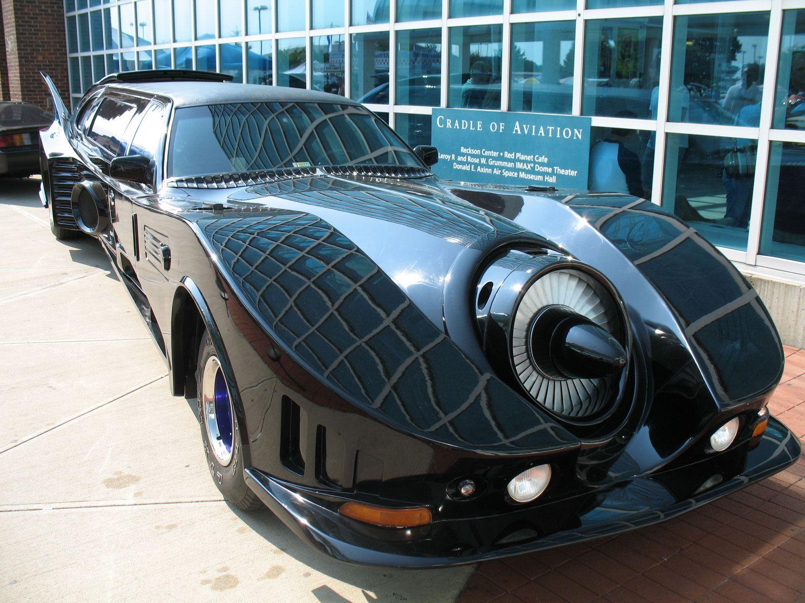 batmobile limousine stretching the superhero awesomeness
