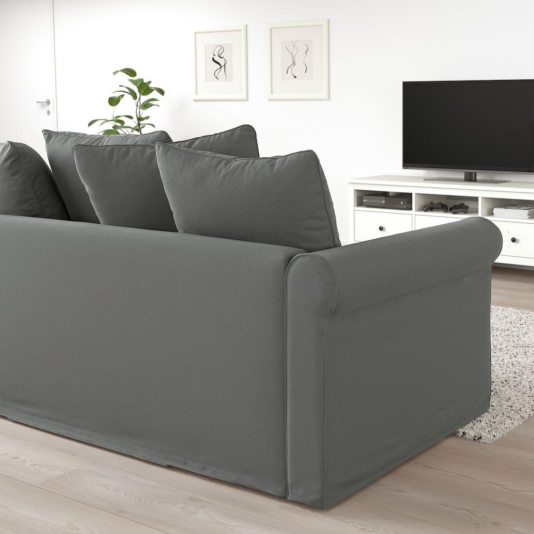 - GRÖNLID Corner Sleeper Sofa, 4-seat - With Open End, Ljungen